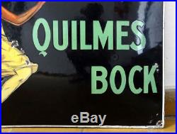 Ancienne Quilmes Bock Plaquee Publicitaire Annes 1925 Jean D'ylan