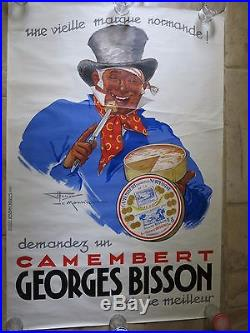 Ancienne affiche CAMEMBERT BISSON