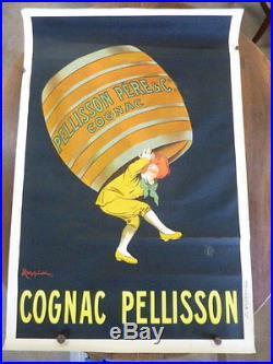 Ancienne affiche COGNAC PELISSON CAPPIELLO