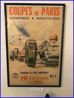 Ancienne affiche Coupe de Paris 1965
