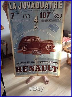 Ancienne affiche Renault La Juvaquatre