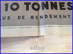 Ancienne affiche Renault Les véhicules indusriels 1939