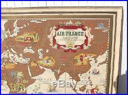 Ancienne affiche air france originale illustré par Lucien Boucher nova et vetera