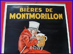 Ancienne affiche bières de Montmorillon 36,1 x 51,5 cmparfait état