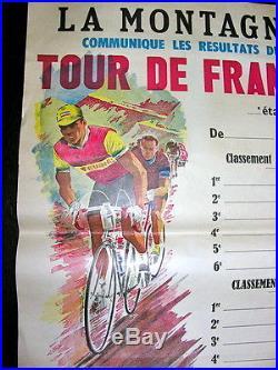 Ancienne affiche la montagne TOUR DE FRANCE excellent état