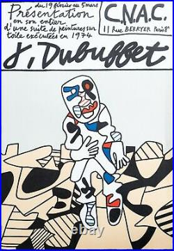 Ancienne affiche old poster Jean DUBUFFET Paris 1974 CNAC