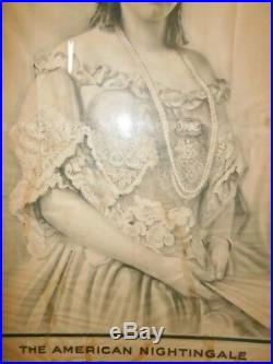 Ancienne affiche opéra Joséphine Lucchese New York Philadelphia nightingale