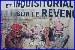 Ancienne affiche politique Georges Villa l'impot personnel et inquisitorial