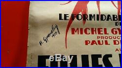 Ancienne affiche poster authentique Folies Bergère Gyarmathy 1950