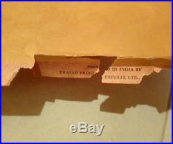 Ancienne affiche publicitaire Air India