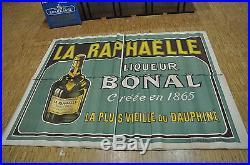 Ancienne affiche publicitaire La RAPHAËLLE Liqueur BONAL décoration Bar