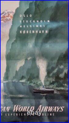 Ancienne affiche publicitaire Pan American