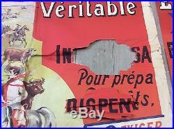 Ancienne affiche publicitaire liebig en 2 partie 2 metre / 1.30m