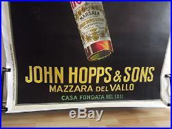 Ancienne affiche signée bazzi 1923 pour l apéritif no plaque emaillee. Italie