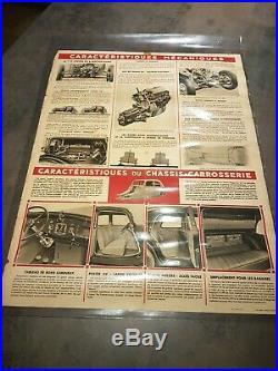Ancienne authentique et rare affiche Citroen Traction avant 7cv de 1934
