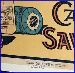Anciennes Affiche publicitaire pour les Cafés SAVIGNY Chartres Eure et Loir