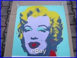 Andy Warhol Affiche Originale Marylin Monroe expo Ludwig museum 119 x 84,5cm