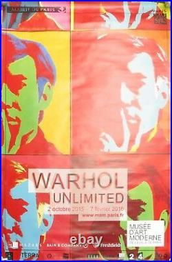 Andy Warhol Affiche originale (175 x 119 cm) Unlimited Paris 2015