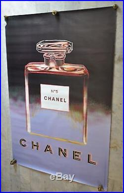 Andy Warhol / Chanel N°5. / Noir-Parme/ Grand Format. 47 x 63