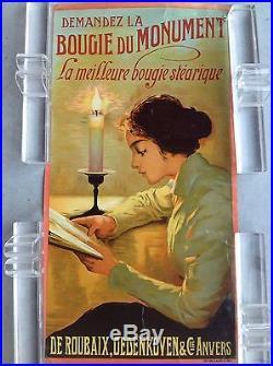 Anvers Antwerpen 1900 élégante bougie affiche ancienne poster vintage