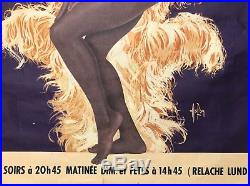 Aslan Grande Affiche Originale 1975 Lisette Malidor Casino Paris Vintage Poster