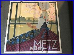 Authentique Affiche Ancienne Vintage Poster Metz Par Pellon 57 Moselle