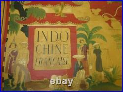Authentique Affiche INDOCHINE FRANCAISE -Lucien Boucher-65x99cm-Perceval Paris