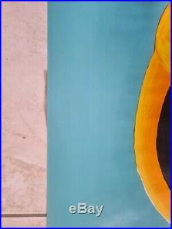 Authentique affiche Orangina Light / illustration Villemot (excellent état)