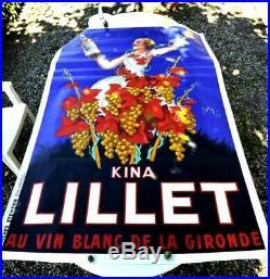 Authentique affiche ancienne Kina LILLET LILET ROBY 1937 OLD ORIGINAL VINTAGE