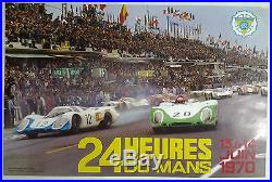 Auto 24 Heures du Mans juin 1970 AFFICHE ORIGINALE ANCIENNE /AF6