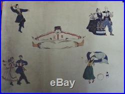 BALLETS RUSSES Maquette originale gouache sur papier 65x50cm