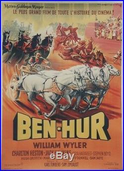 BEN-HUR Affiche originale entoilée (William WYLER / Charlton HESTON)