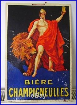 BIERE CHAMPIGNEULLES Pub ancienne vers 1930 signé Paul MOHR n°2