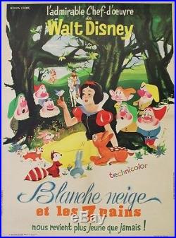 BLANCHE NEIGE ET LES 7 NAINS (SNOW WHITE & 7 DWARFS) Affiche ent. Walt DISNEY