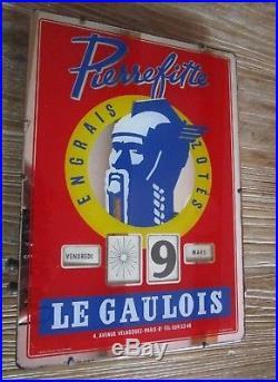 Beau Calendrier perpétuel LE GAULOIS PIERREFITTE Gerrer S. A