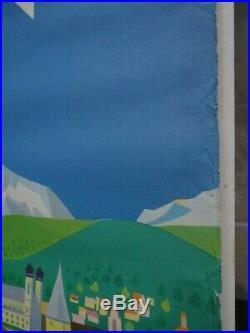 Belle Affiche Touristique Suisse Années 50 Lucerne Atelier Schmidlin Bale 1956 1