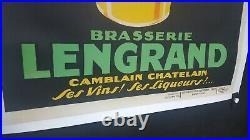 Belle Et Amusante Affiche Biere Lengrand Grenouille Litho Annees 1925