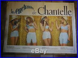 Belle affiche ancienne Chantelle sous vetements lingerie