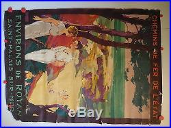 Belle affiche ancienne Royan Saint palais sur mer par roger Soubie