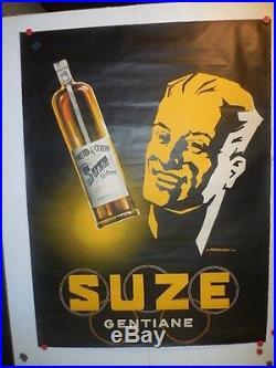 Belle affiche ancienne Suze Gentiane alcool par Falcucci