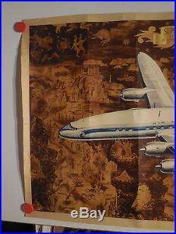 Belle affiche ancienne air France avion constellation