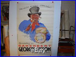 Belle affiche ancienne camenbert Bisson par Henri Le Monnier fromage