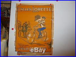 Belle affiche ancienne cycle lorette