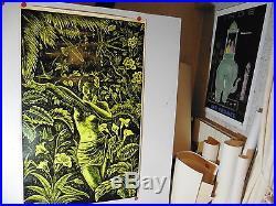 Belle affiche ancienne femme des iles hawai, polynesie annees 60 par Michalot