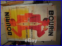Belle affiche ancienne quinquina Bourin Par Bellanger jumeaux twins