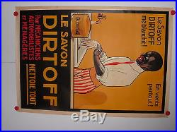 Belle affiche ancienne savon Dirtoff Black memorabilia