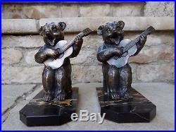 Benjamin Rabier Les Ours Guitaristes/paire De Serre Livre Ancien