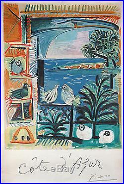 CÔTE D'AZUR Affiche Pablo Picasso