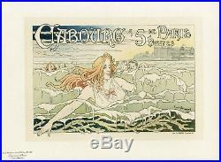 CABOURG Litho Maîtres de l'Affiche Pl. 88 entoilée PRIVAT-LIVEMONT 1896