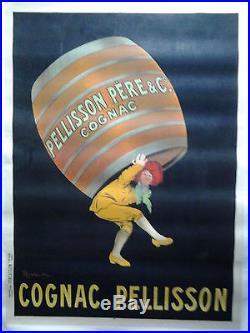 CAPPIELLO Cognac PELLISSON AFFICHE ORIGINALE ANNÉES 1900/20 /90a